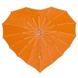 Oranje hart paraplu