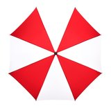 Golfparaplu windproof xl rood wit