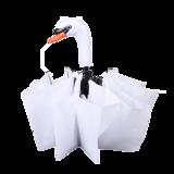 Opvouwbare paraplu zwaan Esschert Design wit