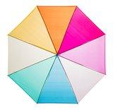 Falconetti doorzichtige regenboog paraplu multicolour bovenkant