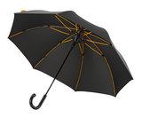 Falcone luxe windproof golfparaplu zwart met haak gp-67-8120 zijkant binnenkant