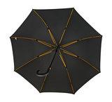 Falcone luxe windproof golfparaplu zwart met haak gp-67-8120 binnenkant paraplu frame baleinen