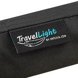 TravelLight extreem lichte reisparaplu windproof zwart zijkant