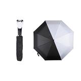 Opvouwbare paraplu panda van Esschert Design - zwart wit