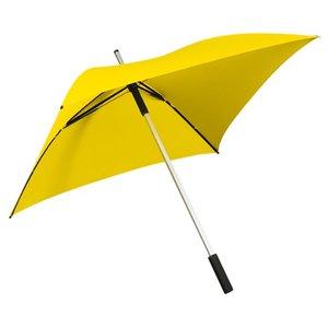 Vierkante paraplu geel