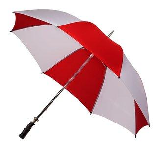 Golfparaplu windproof rood en wit