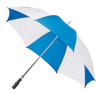 Golfparaplu blauw en wit