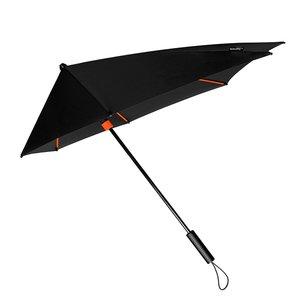 Stormparaplu zwart oranje stormaxi