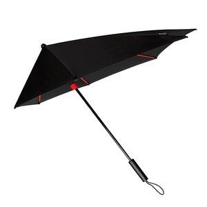Stormparaplu zwart rood stormaxi