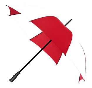 Golfparaplu windproof xl rood wit