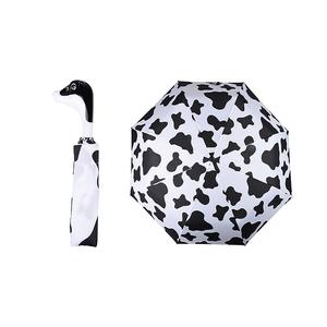 Opvouwbare paraplu koe Esschert Design - zwart wit