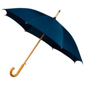Falcone luxe windproof paraplu donkerblauw met haak