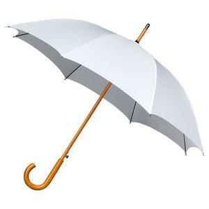 Falcone luxe windproof paraplu wit met haak