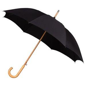 Falcone luxe windproof paraplu zwart met haak