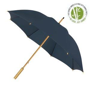 Eco bamboe paraplu windproof marineblauw