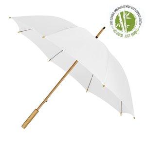 Eco bamboe paraplu windproof wit