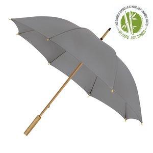 Eco bamboe paraplu windproof grijs