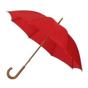 Eco bamboe paraplu windproof rood met haak