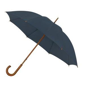 Eco bamboe paraplu windproof marineblauw met haak