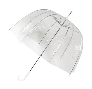 Falconetti koepelparaplu met handopening doorzichtig (PVC)