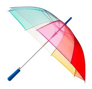 Falconetti doorzichtige regenboog paraplu multicolour