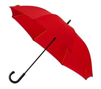 Falcone luxe windproof golfparaplu rood met haak GP-67-8026 zijkant