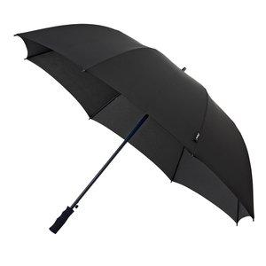 Falcone automatische windproof golfparaplu zwart GP-58-8120 voorkant