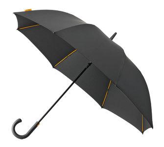 Falcone luxe windproof golfparaplu zwart met haak gp-67-8120 voorkant