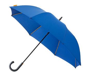 Falcone luxe windproof golfparaplu blauw met haak gp-67-8059 voorkant