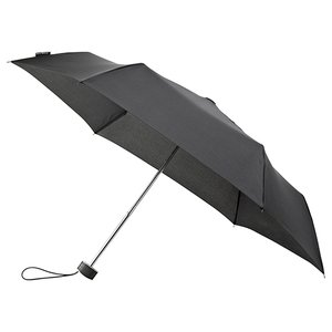 miniMAX platte vouwparaplu windproof paraplu zwart LGF-214-8120 voorkant open