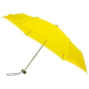 miniMAX platte vouwparaplu windproof paraplu citroen geel LGF-214-PMS YELLOW C voorkant open