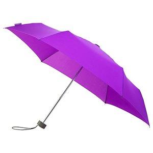 miniMAX platte vouwparaplu windproof paraplu voilet LGF-214-PMS2607C voorkant open