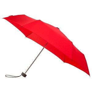 miniMAX platte vouwparaplu windproof paraplu felrood LGF-214-8026 voorkant open