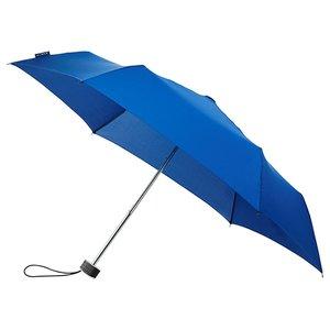 miniMAX platte vouwparaplu windproof paraplu koningsblauw LGF-214-8059 voorkant open