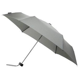 miniMAX platte vouwparaplu windproof paraplu grijs LGF-214-8118 voorkant open