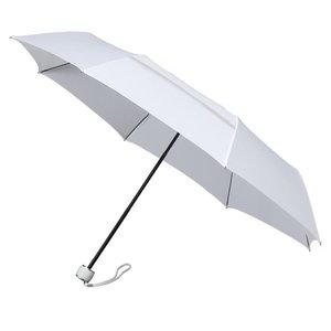 MiniMAX opvouwbare eco windproof paraplu wit voorkant LGF-99-8111