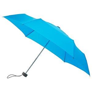 miniMAX platte vouwparaplu windproof paraplu lichtblauw LGF-214-PMS PROCESS BLUE C voorkant open